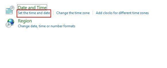 Deaktivieren Sie die Synchronisierung von Uhrzeit und Datum