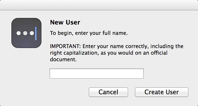 Master-Passwort - Neuer Benutzer
