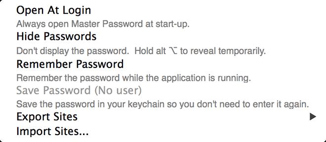 Master-Passwort - Startup