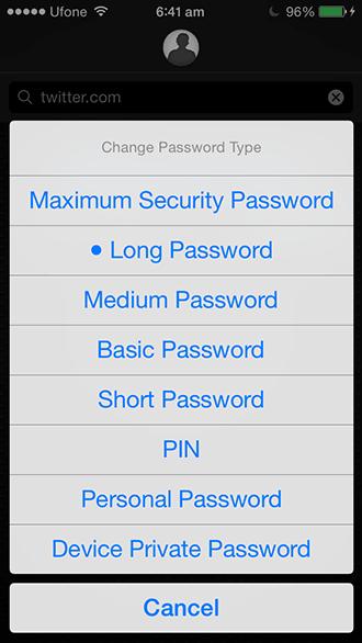 Master-Passwort - Typen