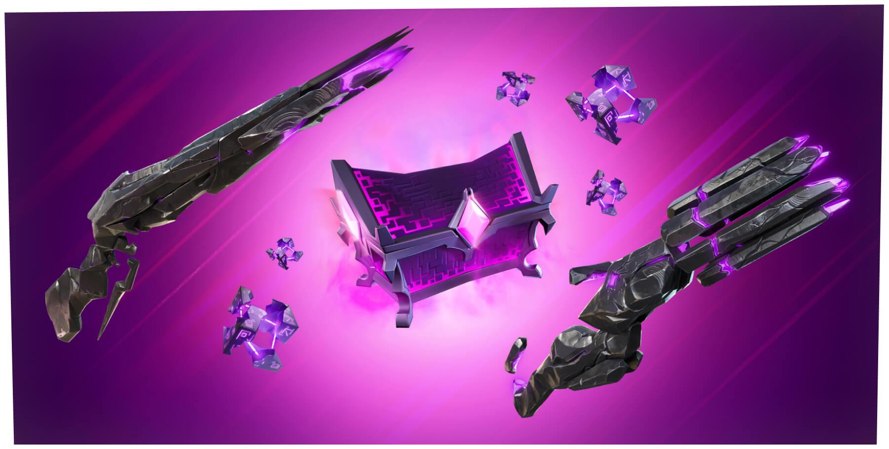 Fortnite Sideways Waffen, Würfel und Truhe