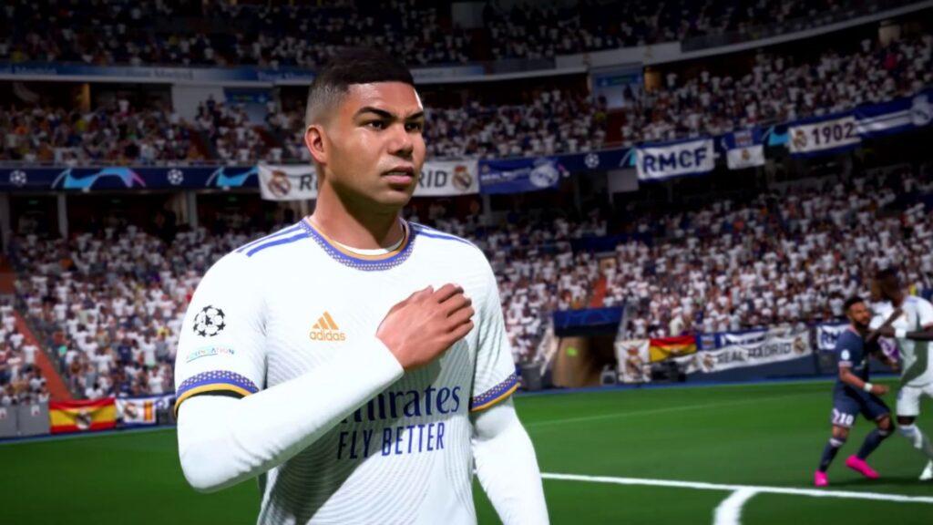 Casemiro in FIFA 22 tippt auf sein Abzeichen