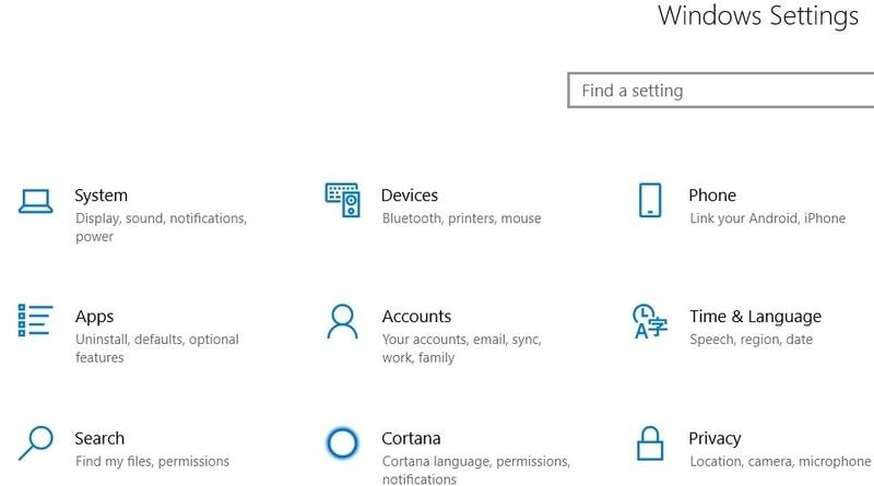 Windows-Einstellungsseite