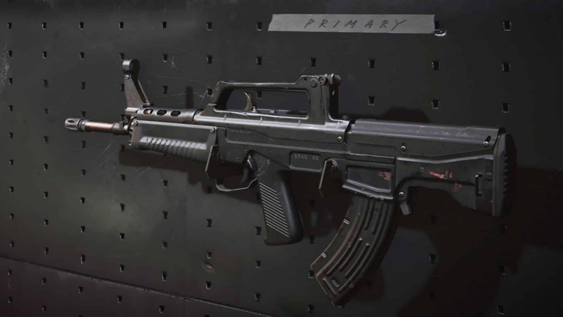 QBZ auf Waffenständer in Warzone
