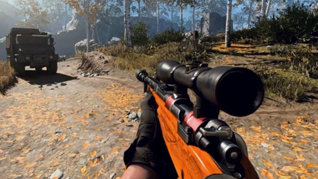 Spieler mit Kar98k in Warzone