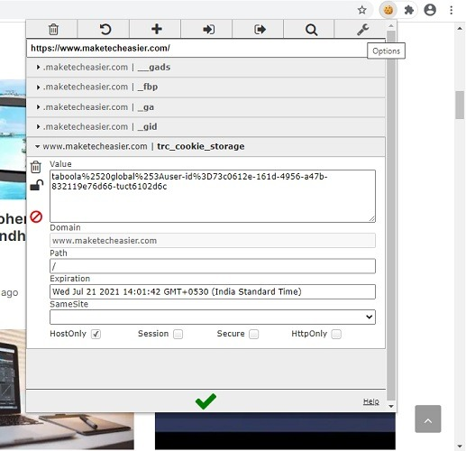 Chrome Web BearbeitendiesesCookie 1