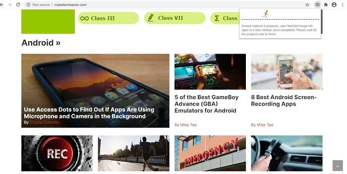 Chrome Web One-Click-Vollseiten-Screenshot 1