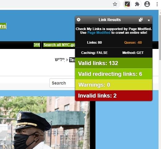 Chrome Web-Checkmylinks 1