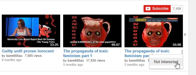 youtube nicht interessiert