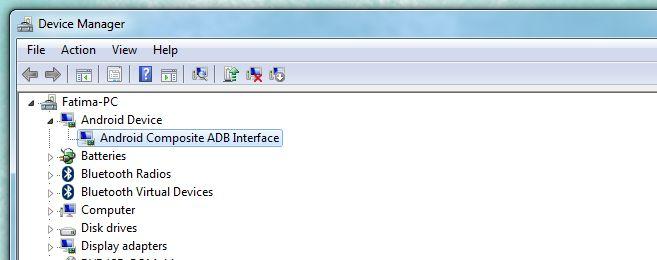 Gerätemanager ADB