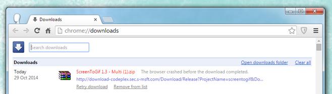 fehlgeschlagener Download