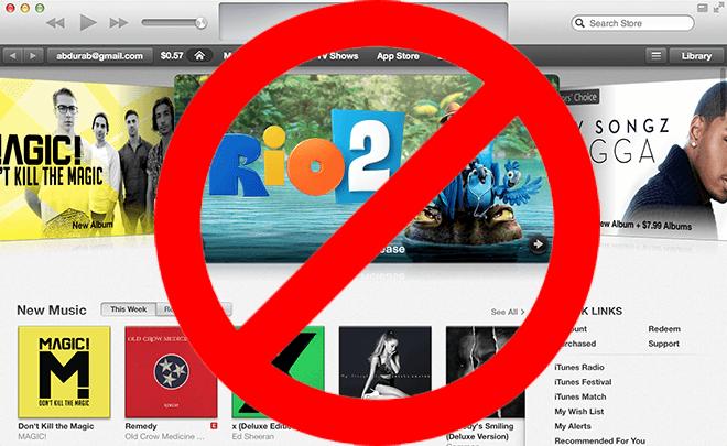 iTunes weg