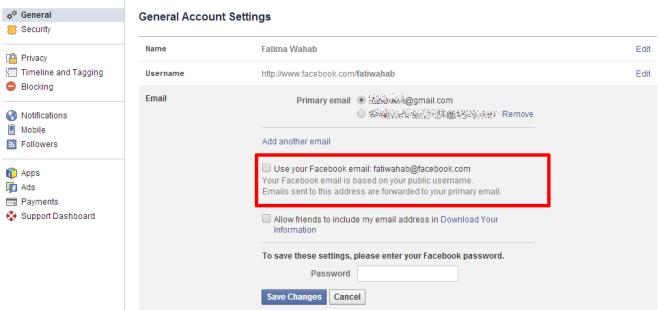 Facebook-E-Mail