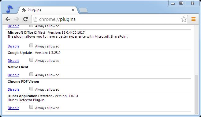 Chrome pdf-Plugin