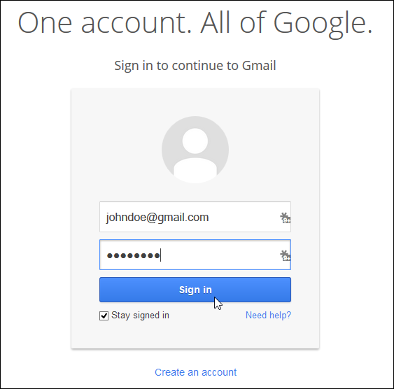 Opt-out der neuen E-Mail von Gmail über Google Option_Step1