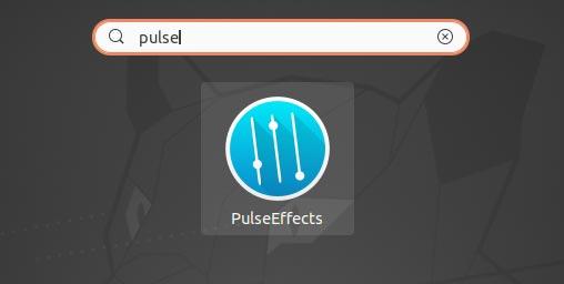 Kostenloses Audio-Upgrade mit Pulseeffects Pulseeffects im Apps-Menü
