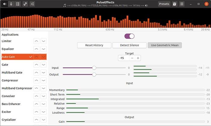 Kostenloses Audio-Upgrade mit Pulseeffects Auto Gain