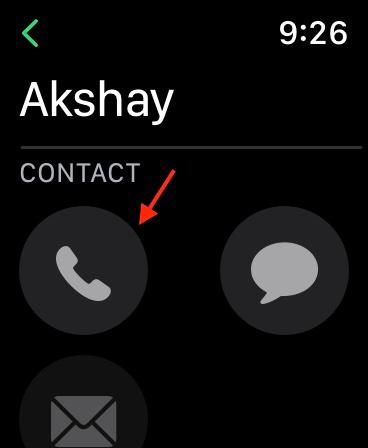 Wählen Sie den Kontakt aus, den Sie anrufen möchten