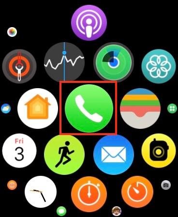 Starten Sie die Telefon-App auf Ihrer Apple Watch