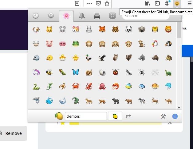 Firefox Social Extensions Emojis 1
