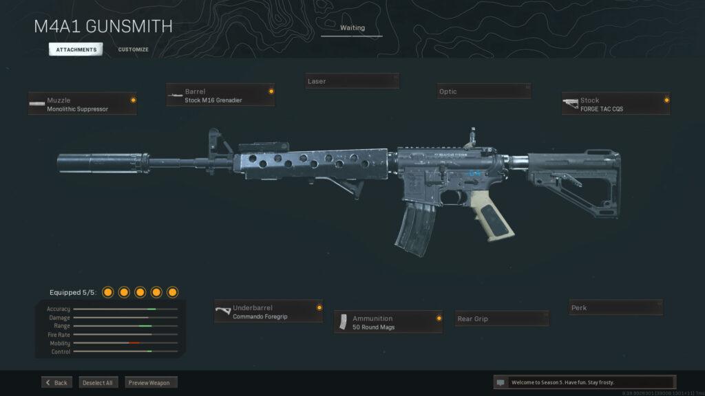 Scharfschützenunterstützung M4A1 Loadout