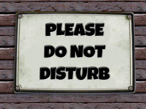 Bitte nicht stören