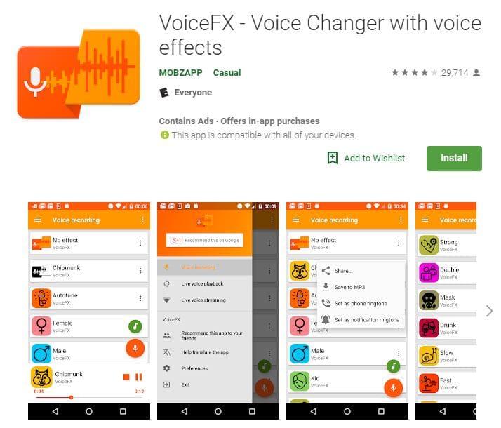 Sprachwechsel-Apps Voicefx