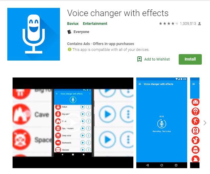 Sprachverändernde Apps mit Effekten