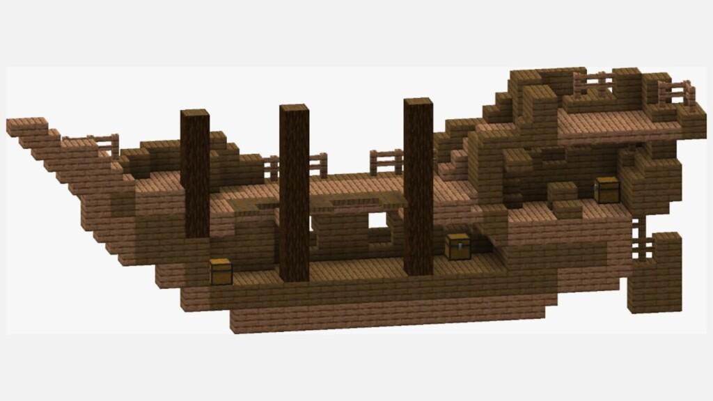 Minecraft-Schiffswrack