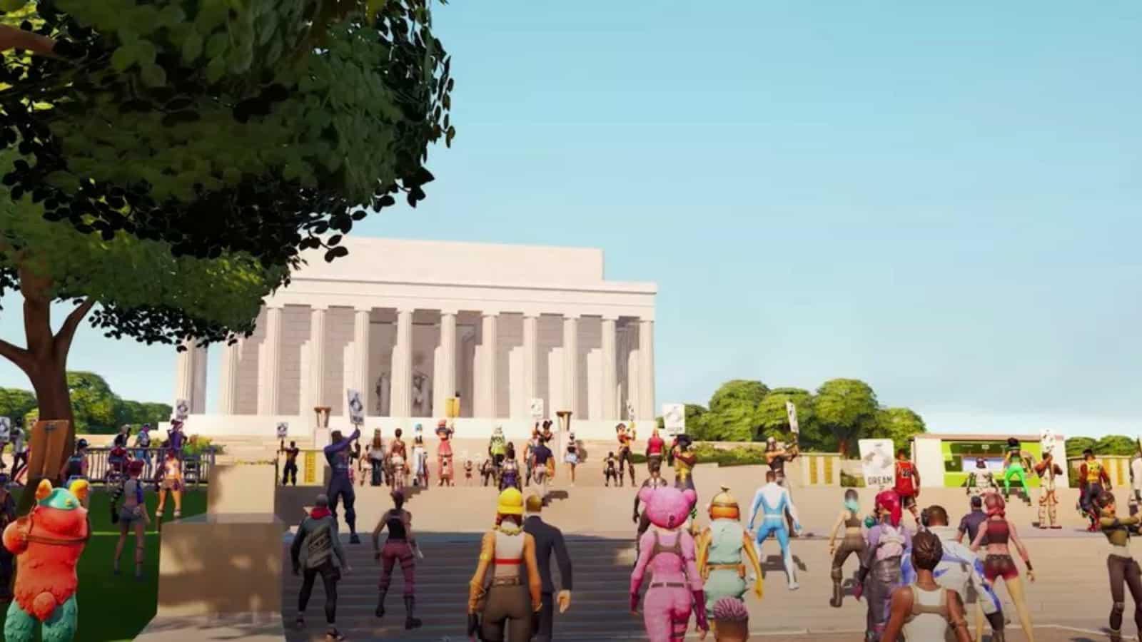Fortnite Martin Luther King: Marsch durch die Zeit für die Rede