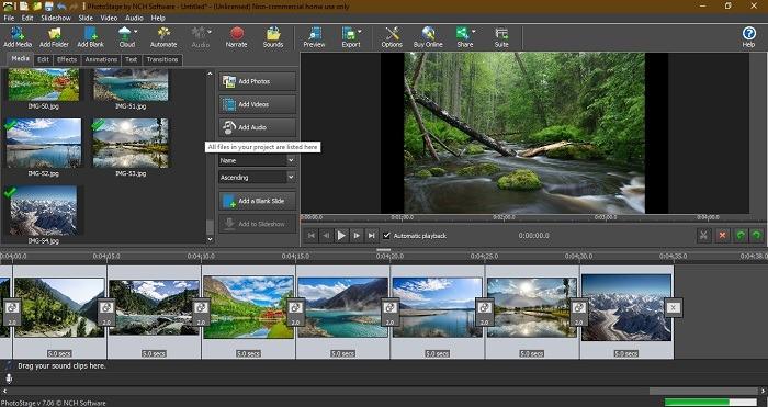 Diashow ansehen Windows 10 Photostage von Nch Software