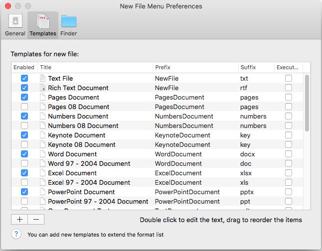 neue Datei Menü-Temp