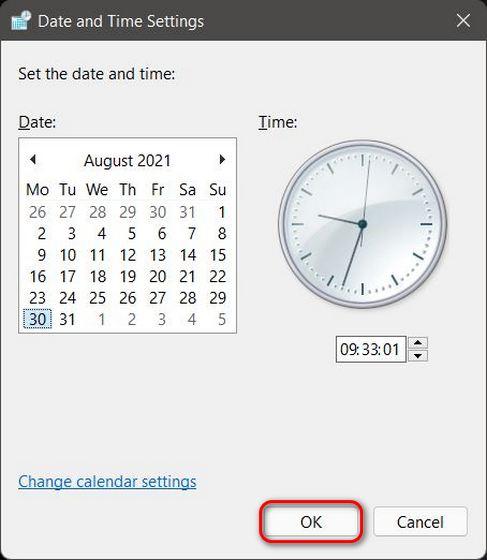 So ändern Sie Datum und Uhrzeit in Windows 11