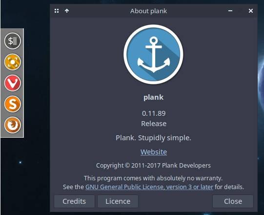 Arcolinux Plank Dock