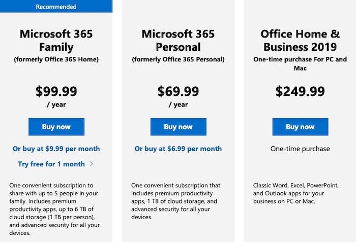 Was sind die Preise für Microsoft 365 Personal?