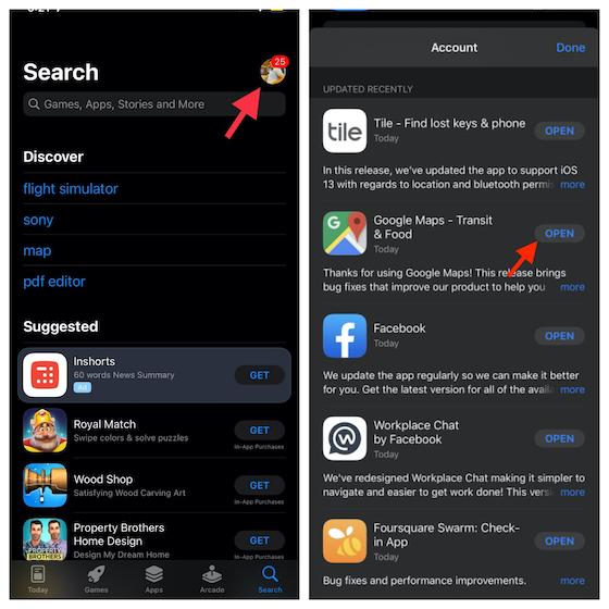 Aktualisieren Sie Google Maps auf iPhone und iPad