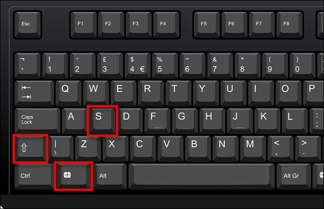 Drücken Sie Windows+Shift+S auf Ihrer Tastatur.