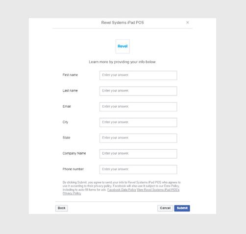 Beispiele für Facebook-Lead-Anzeigen