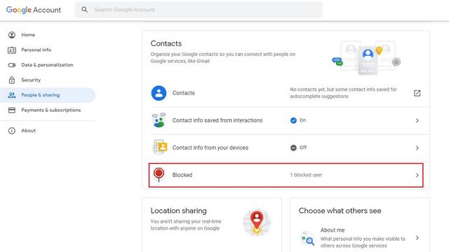 blockierte Leute Google-Konto