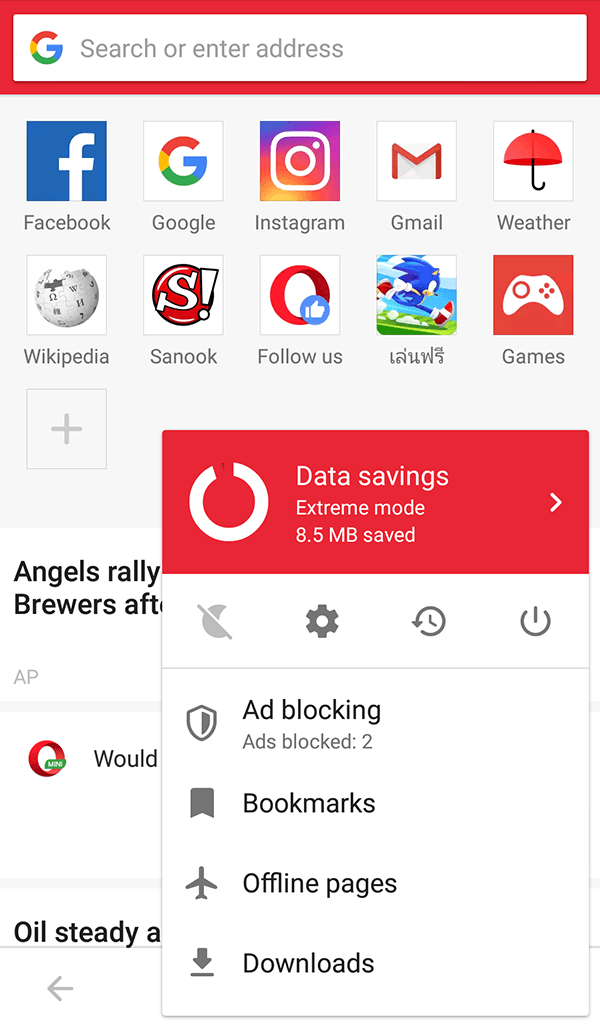 Opera Mini-Browser