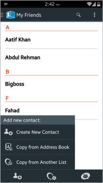 ContactBox-Kontaktliste