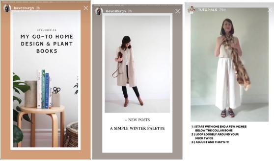 Vorlagen für Instagram-Geschichten von Lee Vosburgh