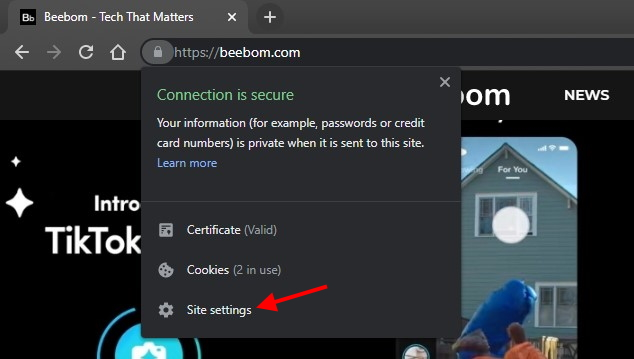 Chrome Datenschutz Site-Einstellungen