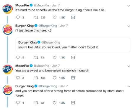Tweets zwischen Burger King und Moonpies