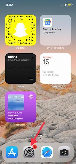Öffnen Sie die Einstellungen-App auf dem iPhone