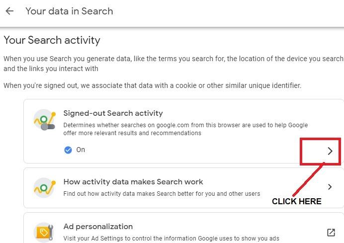 Anonymisieren der Google-Suche mit abgemeldetem Benutzerkonto Klicken Sie auf 1