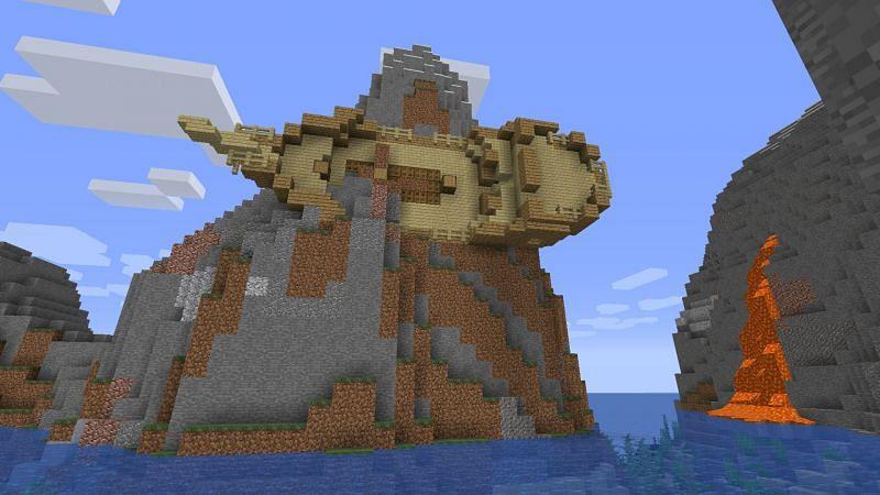 Schiffswrack (Bild über Mojang)