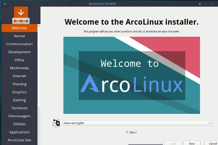 Arcolinux Calamares-Installation 1