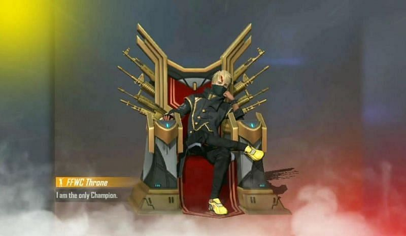 FFWC Throne-Emote in Free Fire (Bild über Free Fire)