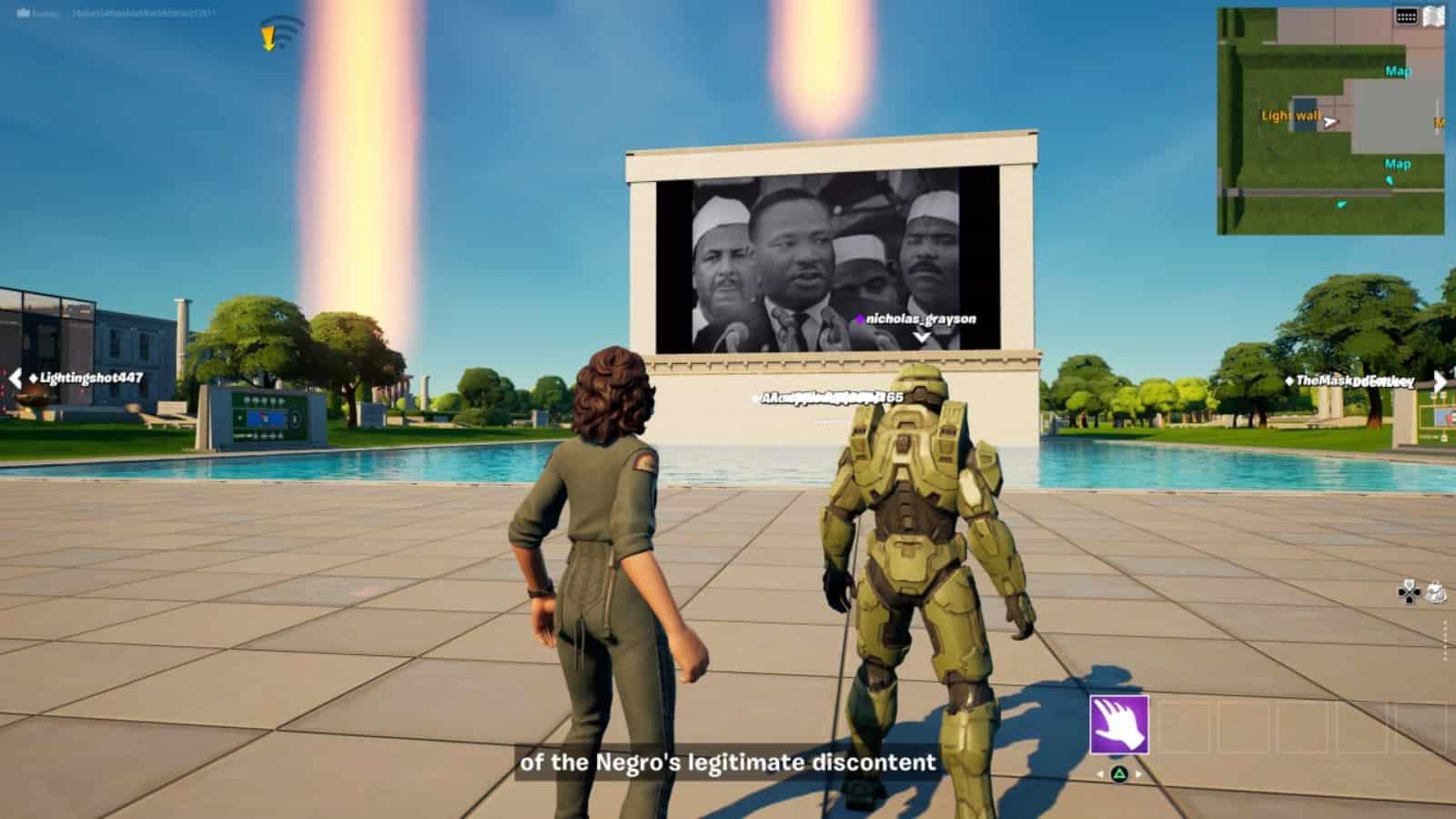 Fortnite deaktiviert Emotes nach respektlosem Verhalten im MLK-Event